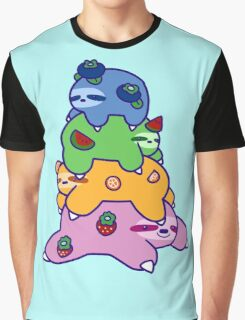 Fruit Sloth Stack Graphic T-Shirt