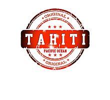 TAHITI Stamp Photographic Print
