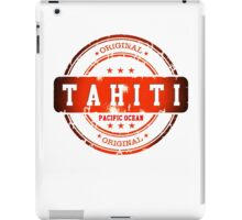 TAHITI Stamp iPad Case/Skin