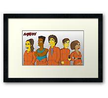 Misfits - Simpsons Style! Framed Print