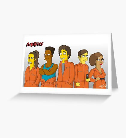 Misfits - Simpsons Style! Greeting Card