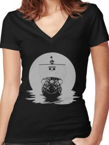 The Pirate Ship Women's Fitted V-Neck T-Shirt
