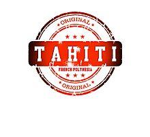 TAHITI  Island Logo Stamp  Photographic Print