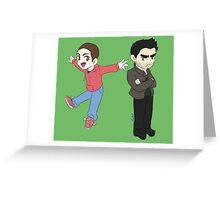 Chibi Style Sterek Greeting Card