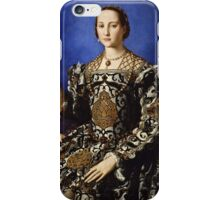 Agnolo Bronzino - Portrait of Eleonora di Toledo with her son Giovanni 1544 - 1545  iPhone Case/Skin