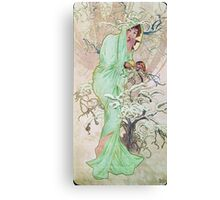 Alphonse Mucha - Hiverwinter 2 Canvas Print