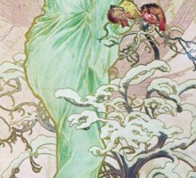 Alphonse Mucha - Hiverwinter 2 Sticker
