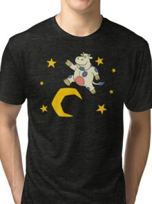 over the moon Tri-blend T-Shirt
