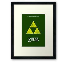 Minimal Zelda Framed Print