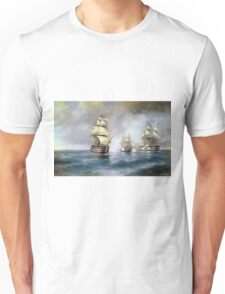 Aivasovsky Ivan - Brig Mercury Attacked By Two Turkish Ships 1892 Unisex T-Shirt