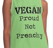 Vegan, Proud not Preachy <3 Contrast Tank