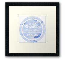 Justin Bieber - Cold Water Framed Print
