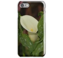 Calla Lily White Spotted Leaves iPhone Case/Skin