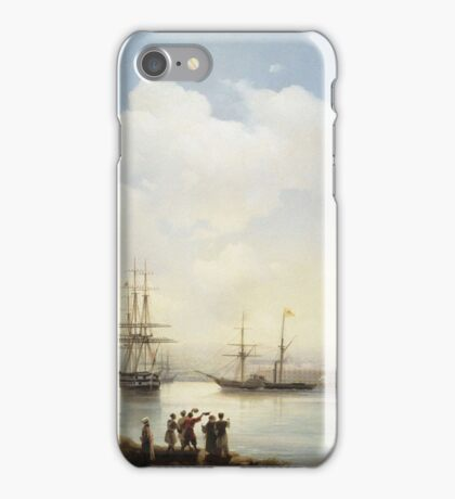 Aivasovsky Ivan - The Russian Squadron On The Sebastopol Roads iPhone Case/Skin