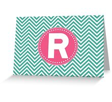 Chevron Letter R Greeting Card