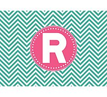 Chevron Letter R Photographic Print
