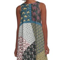 Patchwork Princess A-Line Dress
