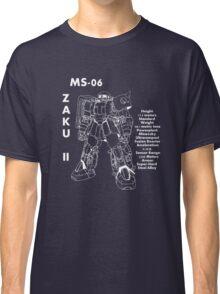 Zaku II Tech Specs Classic T-Shirt