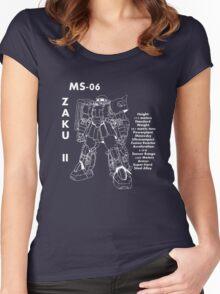 Zaku II Tech Specs Women's Fitted Scoop T-Shirt