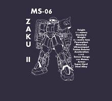 Zaku II Tech Specs Unisex T-Shirt