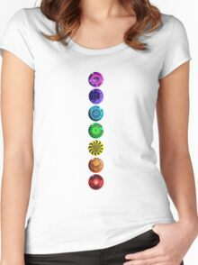 All Chakra - Transparent/Black/No Words Women's Fitted Scoop T-Shirt
