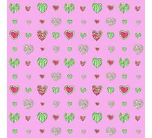 For the love of Watermelon - pink background Photographic Print