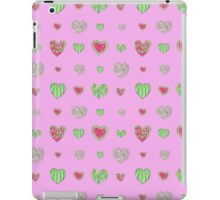 For the love of Watermelon - pink background iPad Case/Skin