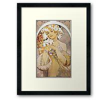 Alphonse Mucha - La Fleurflowers Framed Print