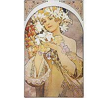 Alphonse Mucha - La Fleurflowers Photographic Print