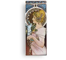 Alphonse Mucha - La Plumethe Pen Canvas Print