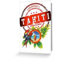 TAHITI Cool Beach Greeting Card