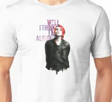 Gerard Way /Jersey city silhouette/Vampire money lyrics Unisex T-Shirt