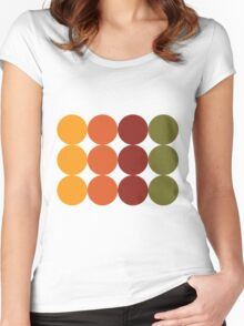 Sepia Citrus  Women's Fitted Scoop T-Shirt