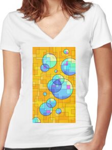 Happy Thoughts Women's Fitted V-Neck T-Shirt