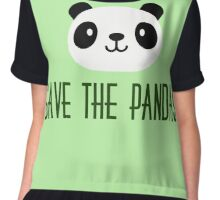 Save The Pandas Chiffon Top