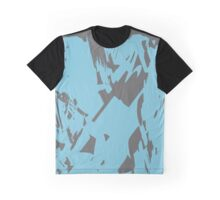 Simple Blue & Grey Abstract Graphic T-Shirt