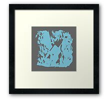 Simple Blue & Grey Abstract Framed Print