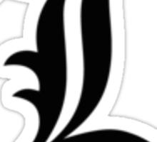 Deathnote L Symbol Sticker