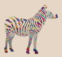 Rainbow zebra by JayZ99