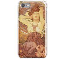 Alphonse Mucha - Amethyst iPhone Case/Skin