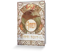 Alphonse Mucha - Le Pater Greeting Card
