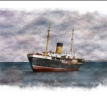 SS Kyle Shipping Vessel In Newfoundland by Vickie Emms