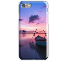 Boat at sunset iPhone Case/Skin