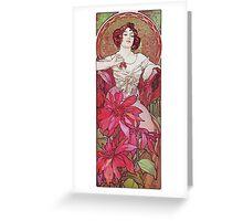 Alphonse Mucha - Le Rubisruby Greeting Card
