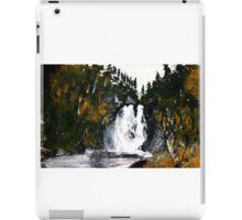 Canada Waterfall Nova Scotia Acrylics On Paper iPad Case/Skin