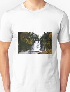 Canada Waterfall Nova Scotia Acrylics On Paper T-Shirt