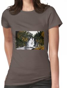 Canada Waterfall Nova Scotia Acrylics On Paper Womens Fitted T-Shirt