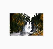 Canada Waterfall Nova Scotia Acrylics On Paper Unisex T-Shirt