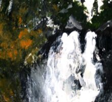 Canada Waterfall Nova Scotia Acrylics On Paper Sticker