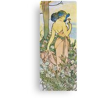 Alphonse Mucha - Oeilletcarnation Canvas Print